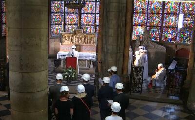 W katedrze Notre Dame odbyła się pierwsza msza od czasu pożaru