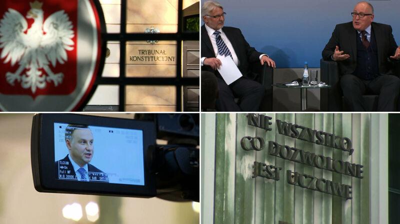 """Od zaniepokojenia do """"opcji atomowej"""". Kalendarium sporu z Komisją Europejską"""