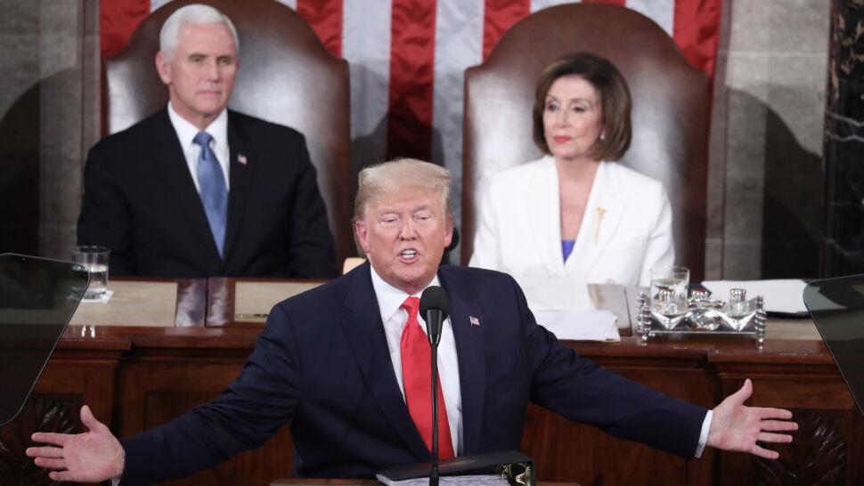Napięcie w Kongresie USA. Nancy Pelosi podarła tekst orędzia Donalda Trumpa