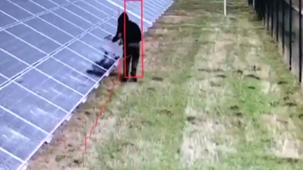 Młotkami niszczył panele na farmie fotowoltaicznej. Sprawca w rękach policji