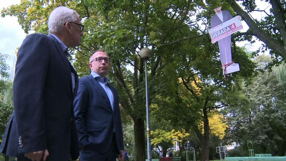 Policja sprawdza, kto zawiesił podobiznę posła PO Artura Gierady na drzewie
