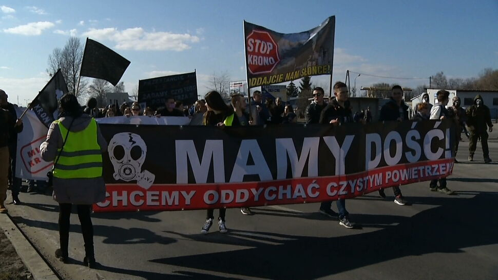 """Mielczanie protestują, bo chcą czystego powietrza. """"Masowo umierają młodzi ludzie"""""""