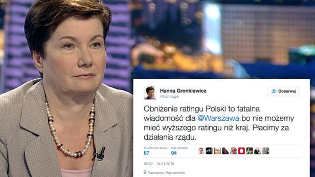 Prezydent stolicy o obniżeniu ratingu archiwum TVN