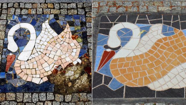 Wątpliwy efekt naprawy mozaiki. Łabędzia zmienili w brzydkie kaczątko