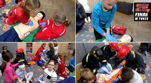 WOŚP uczy pierwszej pomocy. Zobacz, jak radzą sobie mali ratownicy