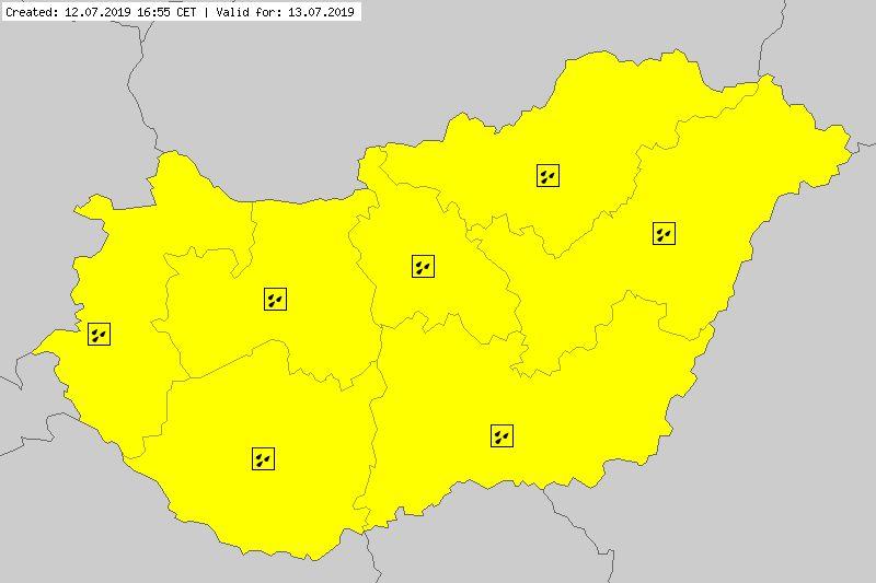 Ostrzeżenia meteorologiczne dla Węgier (meteoalarm.eu)
