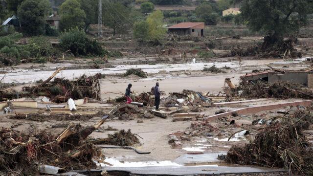 Powodzie w Hiszpanii i Francji.