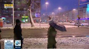 Śnieg w Szczecinie (TVN24)